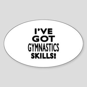 Gymnastics Skills Designs Sticker (Oval)