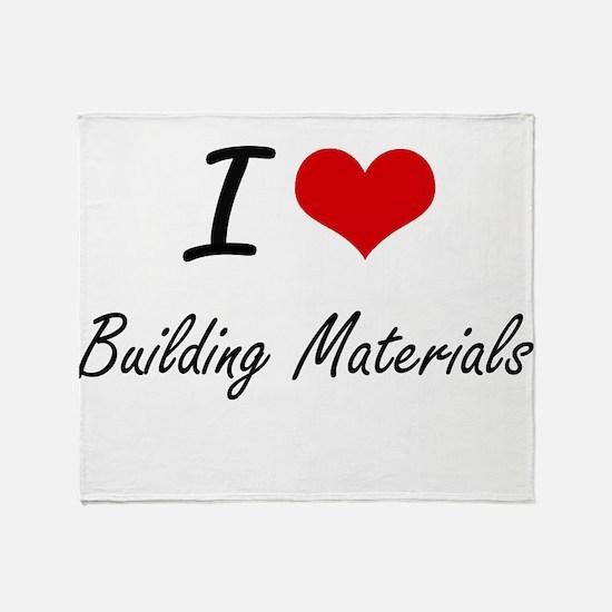 I Love Building Materials Artistic D Throw Blanket