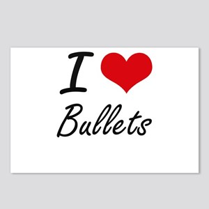 I Love Bullets Artistic D Postcards (Package of 8)