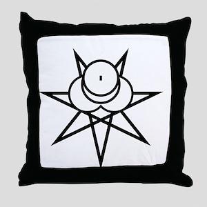 Black Seal Throw Pillow