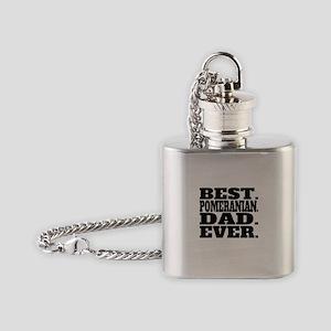 Best Pomeranian Dad Ever Flask Necklace