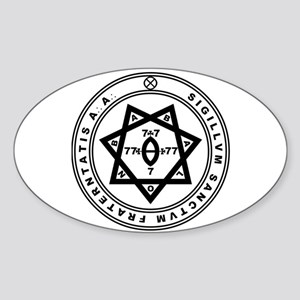 Sigillum Sanctum Fraternitati Oval Sticker