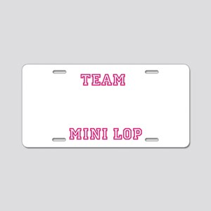 Team Mini Lop Aluminum License Plate