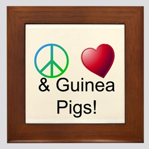 Peace Love & Guinea Pigs Framed Tile