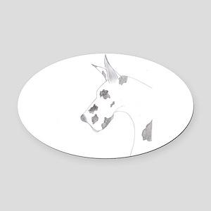 Harlequin Pecil Oval Car Magnet