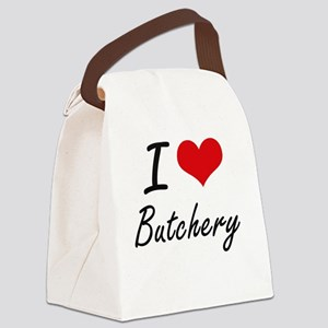 I Love Butchery Artistic Design Canvas Lunch Bag