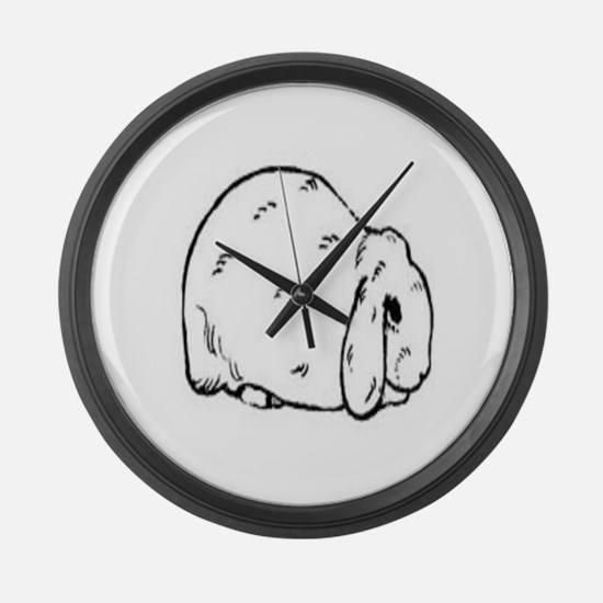 Mini Lop Large Wall Clock