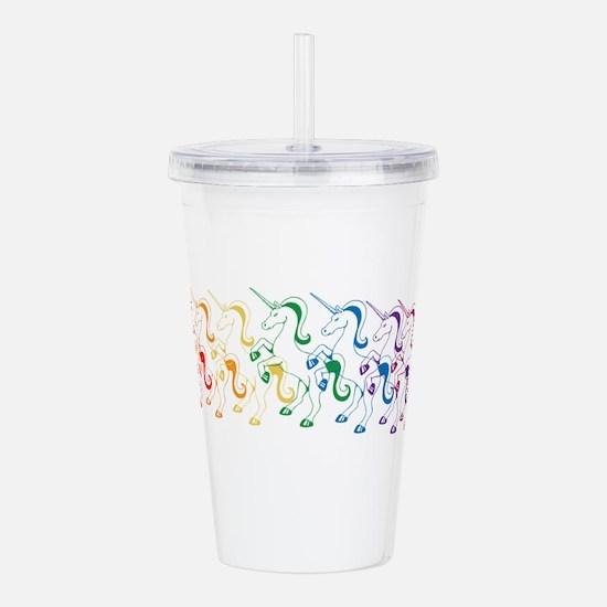 Rainbow Unicorn Acrylic Double-wall Tumbler
