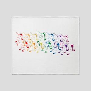 Rainbow Unicorn Throw Blanket