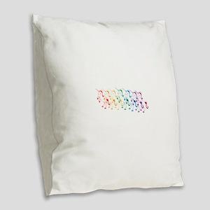 Rainbow Unicorn Burlap Throw Pillow