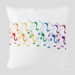 Rainbow Unicorn Woven Throw Pillow