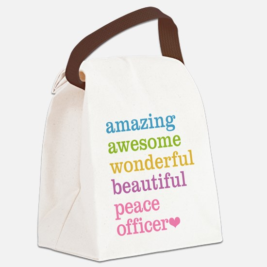 Amazing Peace Officer Canvas Lunch Bag