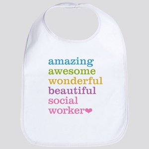 Amazing Social Worker Bib