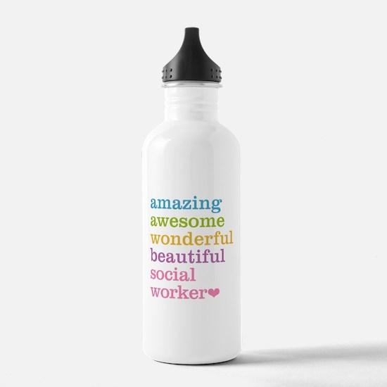 Amazing Social Worker Water Bottle