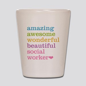 Amazing Social Worker Shot Glass