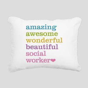 Amazing Social Worker Rectangular Canvas Pillow