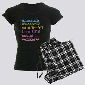 Amazing Social Worker Women's Dark Pajamas