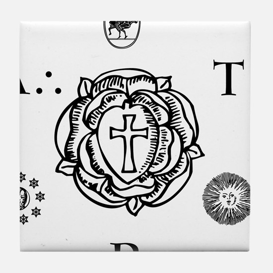 Sacred Seal of the ART  Tile Coaster