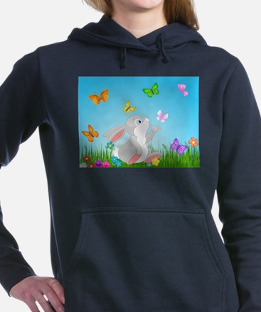Bunny & Butterflies Women's Hooded Sweatshirt