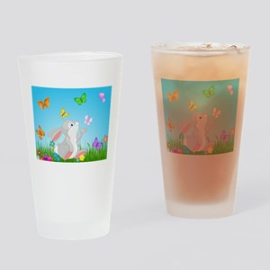 Bunny & Butterflies Drinking Glass