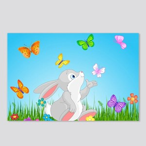 Bunny & Butterflies Postcards (Package of 8)