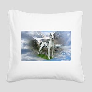 Majestic Dane Square Canvas Pillow