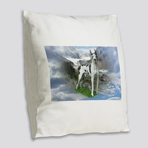 Majestic Dane Burlap Throw Pillow