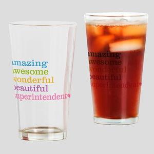 Amazing Superintendent Drinking Glass