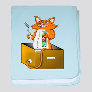Schrödinger's Cat baby blanket