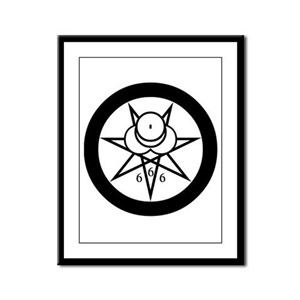 Crowley Seal Framed Panel Print