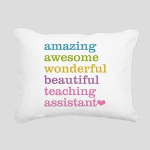 Amazing Teaching Assista Rectangular Canvas Pillow