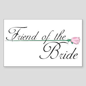 Elegant Friend of the Bride Rectangle Sticker