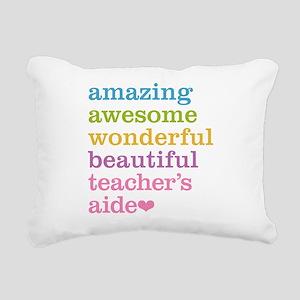 Amazing Teachers Aide Rectangular Canvas Pillow