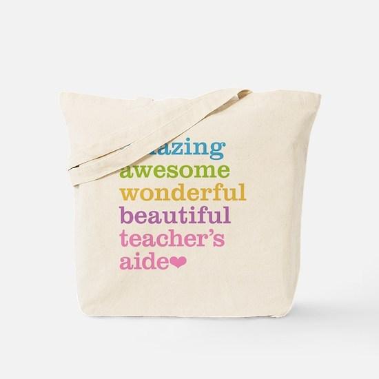 Amazing Teachers Aide Tote Bag