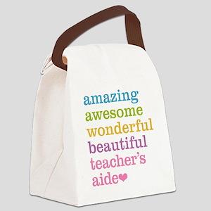 Amazing Teachers Aide Canvas Lunch Bag