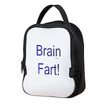 Brain Fart! blue Neoprene Lunch Bag