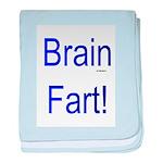 Brain Fart! blue baby blanket