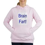 Brain Fart! blue Women's Hooded Sweatshirt