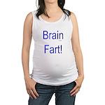 Brain Fart! blue Maternity Tank Top