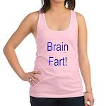 Brain Fart! blue Racerback Tank Top
