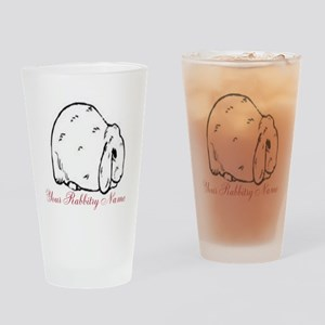 Personalized Mini Lop Drinking Glass