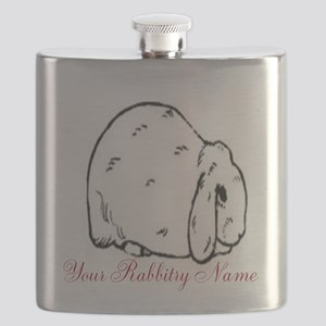 Personalized Mini Lop Flask