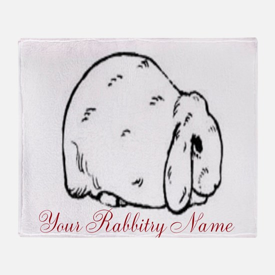 Personalized Mini Lop Throw Blanket