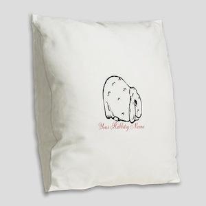 Personalized Mini Lop Burlap Throw Pillow