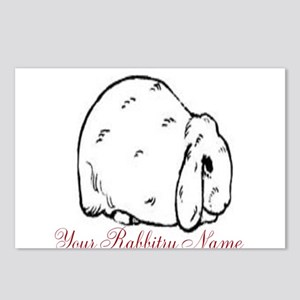 Personalized Mini Lop Postcards (Package of 8)