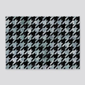 HOUNDSTOOTH1 BLACK MARBLE & ICE CRY 5'x7'Area Rug