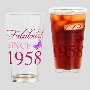1958 Fabulous Birthday Drinking Glass