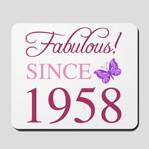 1958 Fabulous Birthday Mousepad