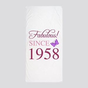 1958 Fabulous Birthday Beach Towel