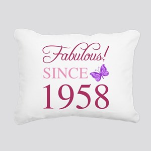 1958 Fabulous Birthday Rectangular Canvas Pillow